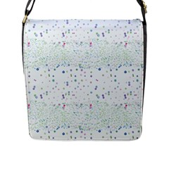 Spot Polka Dots Blue Pink Sexy Flap Messenger Bag (l)