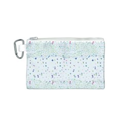 Spot Polka Dots Blue Pink Sexy Canvas Cosmetic Bag (s)
