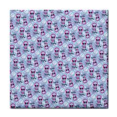 Pattern Kitty Headphones  Tile Coasters