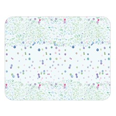 Spot Polka Dots Blue Pink Sexy Double Sided Flano Blanket (large)