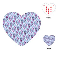 Pattern Kitty Headphones  Playing Cards (heart)