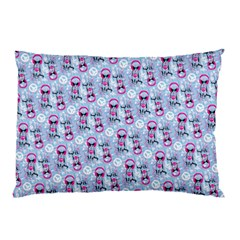 Pattern Kitty Headphones  Pillow Case