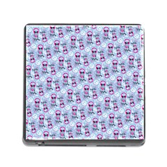 Pattern Kitty Headphones  Memory Card Reader (square)