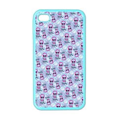 Pattern Kitty Headphones  Apple Iphone 4 Case (color)