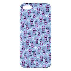Pattern Kitty Headphones  Apple Iphone 5 Premium Hardshell Case