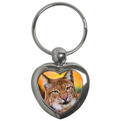Tiger Beetle Lion Tiger Animals Key Chains (heart)