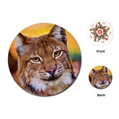 Tiger Beetle Lion Tiger Animals Playing Cards (round)