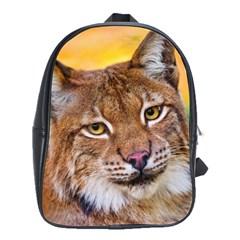 Tiger Beetle Lion Tiger Animals School Bag (large)