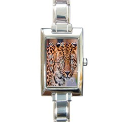 Tiger Beetle Lion Tiger Animals Leopard Rectangle Italian Charm Watch