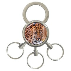 Tiger Beetle Lion Tiger Animals Leopard 3 Ring Key Chains