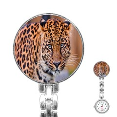 Tiger Beetle Lion Tiger Animals Leopard Stainless Steel Nurses Watch