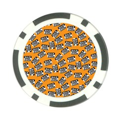 Pattern Halloween Wearing Costume Icreate Poker Chip Card Guard