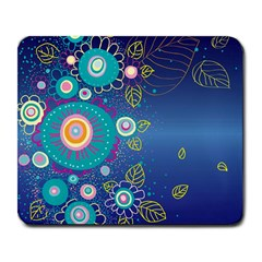 Flower Blue Floral Sunflower Star Polka Dots Sexy Large Mousepads