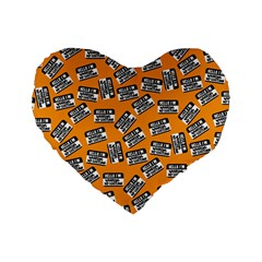 Pattern Halloween Wearing Costume Icreate Standard 16  Premium Heart Shape Cushions