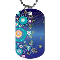 Flower Blue Floral Sunflower Star Polka Dots Sexy Dog Tag (one Side)
