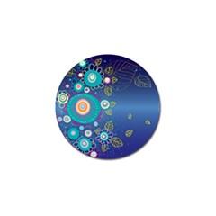 Flower Blue Floral Sunflower Star Polka Dots Sexy Golf Ball Marker (10 Pack)