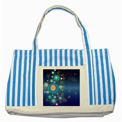 Flower Blue Floral Sunflower Star Polka Dots Sexy Striped Blue Tote Bag