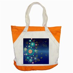 Flower Blue Floral Sunflower Star Polka Dots Sexy Accent Tote Bag