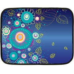 Flower Blue Floral Sunflower Star Polka Dots Sexy Fleece Blanket (mini)