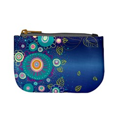 Flower Blue Floral Sunflower Star Polka Dots Sexy Mini Coin Purses