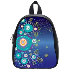 Flower Blue Floral Sunflower Star Polka Dots Sexy School Bag (small)