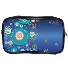 Flower Blue Floral Sunflower Star Polka Dots Sexy Toiletries Bags