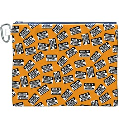 Pattern Halloween Wearing Costume Icreate Canvas Cosmetic Bag (xxxl)