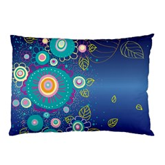 Flower Blue Floral Sunflower Star Polka Dots Sexy Pillow Case (two Sides)