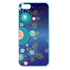 Flower Blue Floral Sunflower Star Polka Dots Sexy Apple Seamless Iphone 5 Case (color)
