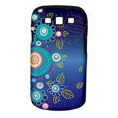 Flower Blue Floral Sunflower Star Polka Dots Sexy Samsung Galaxy S Iii Classic Hardshell Case (pc+silicone)