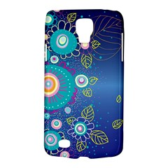 Flower Blue Floral Sunflower Star Polka Dots Sexy Galaxy S4 Active
