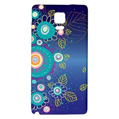 Flower Blue Floral Sunflower Star Polka Dots Sexy Galaxy Note 4 Back Case