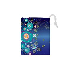 Flower Blue Floral Sunflower Star Polka Dots Sexy Drawstring Pouches (xs)