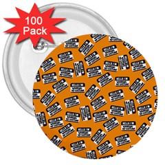 Pattern Halloween  3  Buttons (100 Pack)