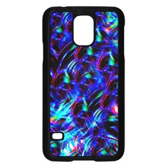 Dark Neon Stuff Blue Red Black Rainbow Light Samsung Galaxy S5 Case (black)