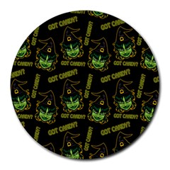 Pattern Halloween Witch Got Candy? Icreate Round Mousepads