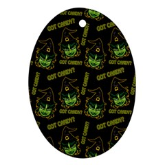 Pattern Halloween Witch Got Candy? Icreate Ornament (oval)