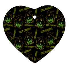 Pattern Halloween Witch Got Candy? Icreate Ornament (heart)