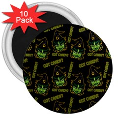 Pattern Halloween Witch Got Candy? Icreate 3  Magnets (10 Pack)