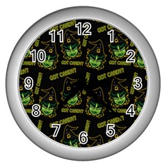 Pattern Halloween Witch Got Candy? Icreate Wall Clocks (silver)