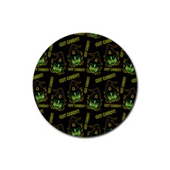 Pattern Halloween Witch Got Candy? Icreate Rubber Round Coaster (4 Pack)