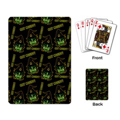 Pattern Halloween Witch Got Candy? Icreate Playing Card