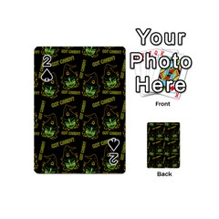 Pattern Halloween Witch Got Candy? Icreate Playing Cards 54 (mini)