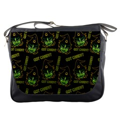 Pattern Halloween Witch Got Candy? Icreate Messenger Bags