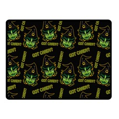 Pattern Halloween Witch Got Candy? Icreate Double Sided Fleece Blanket (small)