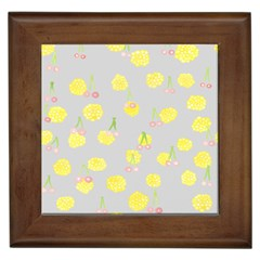 Cute Fruit Cerry Yellow Green Pink Framed Tiles