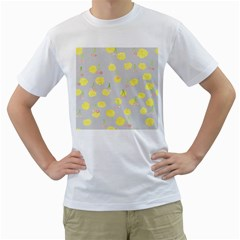Cute Fruit Cerry Yellow Green Pink Men s T Shirt (white) (two Sided)