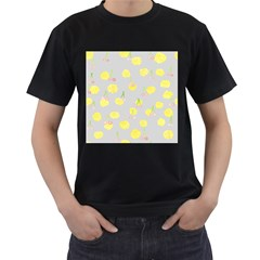 Cute Fruit Cerry Yellow Green Pink Men s T Shirt (black) (two Sided)