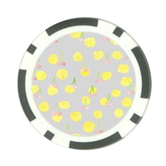 Cute Fruit Cerry Yellow Green Pink Poker Chip Card Guard