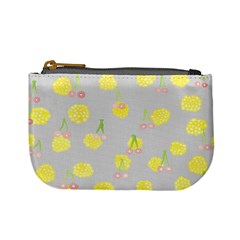 Cute Fruit Cerry Yellow Green Pink Mini Coin Purses